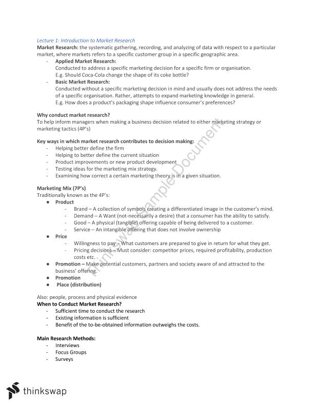MKTG_1045 Market Research - Lecture Notes - Page 1