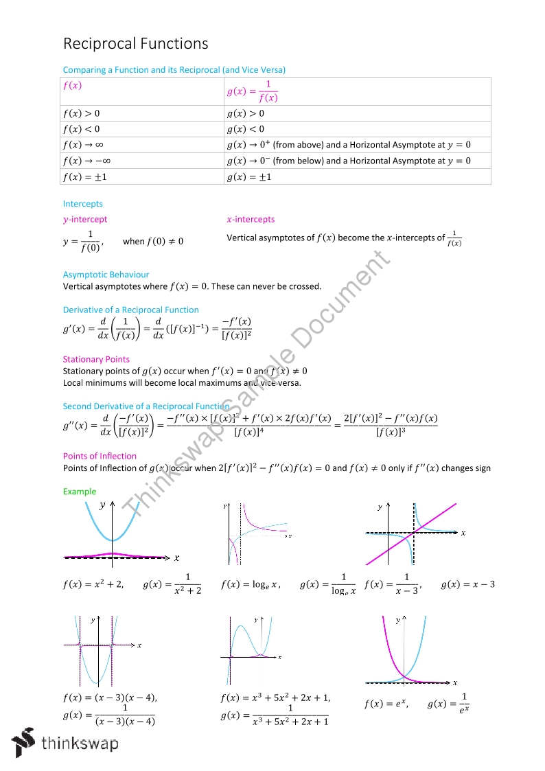 Functions and Graphs - Page 1