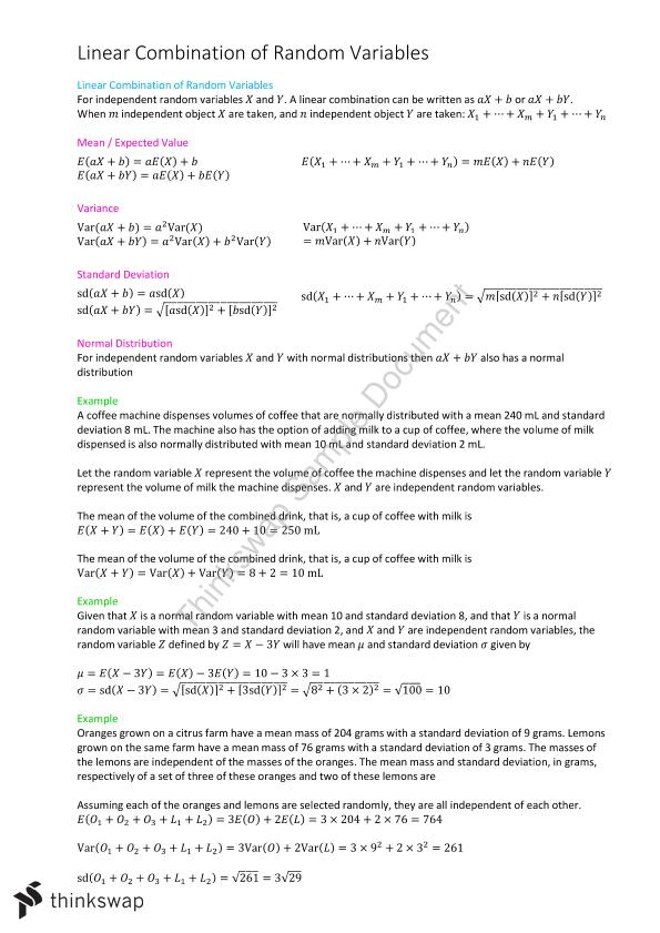 Probability and Statistics  - Page 1