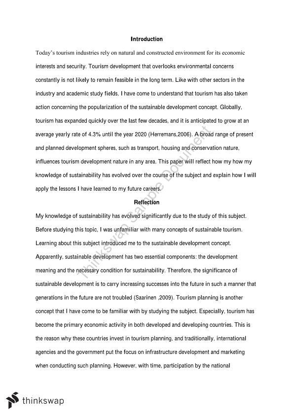 career development reflection paper
