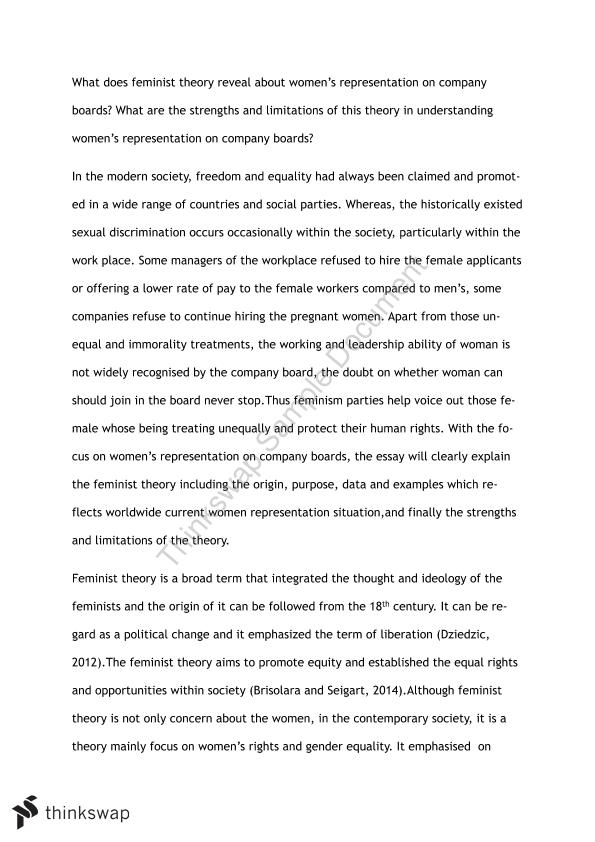 Essay feminist in theory