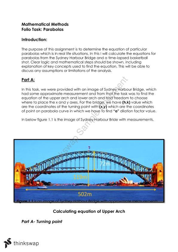 Sydney Harbour Bridge Parabola