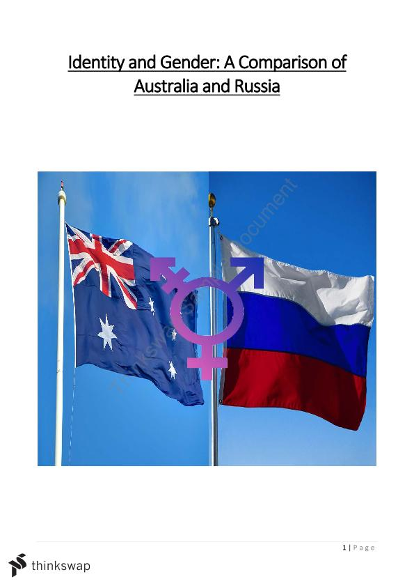 Identity and Gender in Russia - An Intercultural Perspective