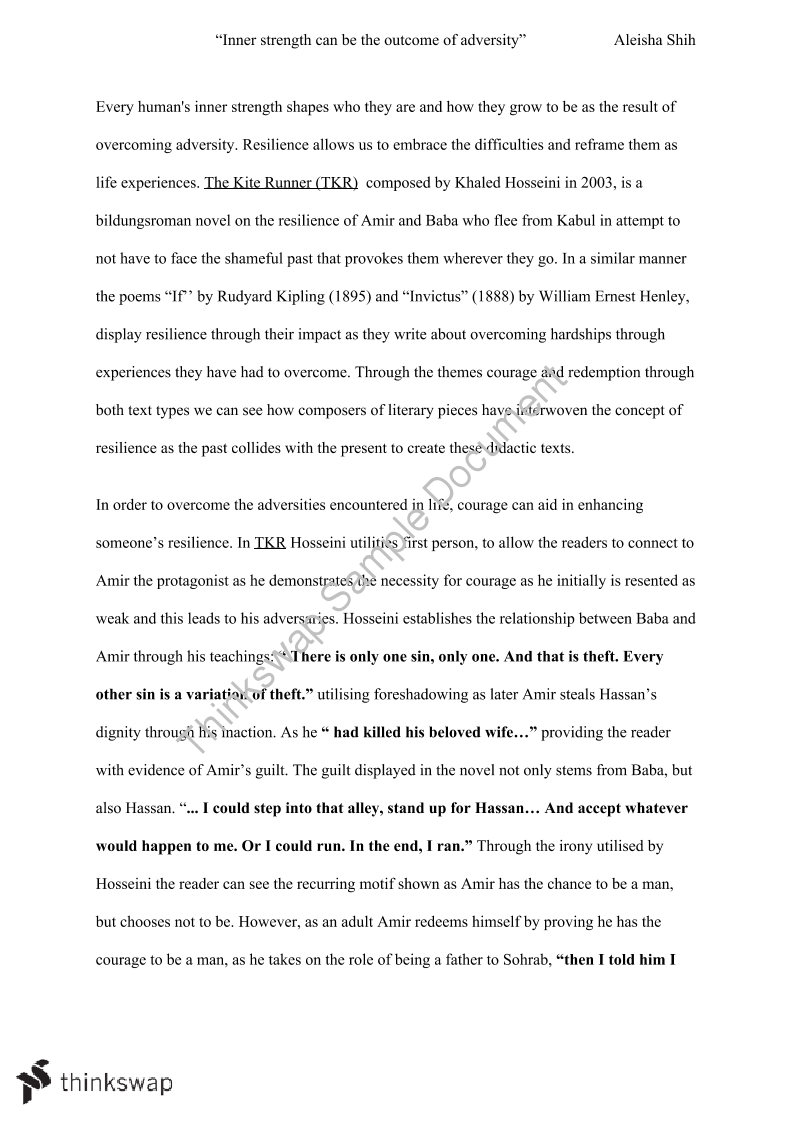 Essay Writing Business Kite Runner By Khaled Hosseini Essay Essay Proposal Template also Secondary School English Essay Kite Runner By Khaled Hosseini Essay  Year  Hsc  English  English Essays Topics