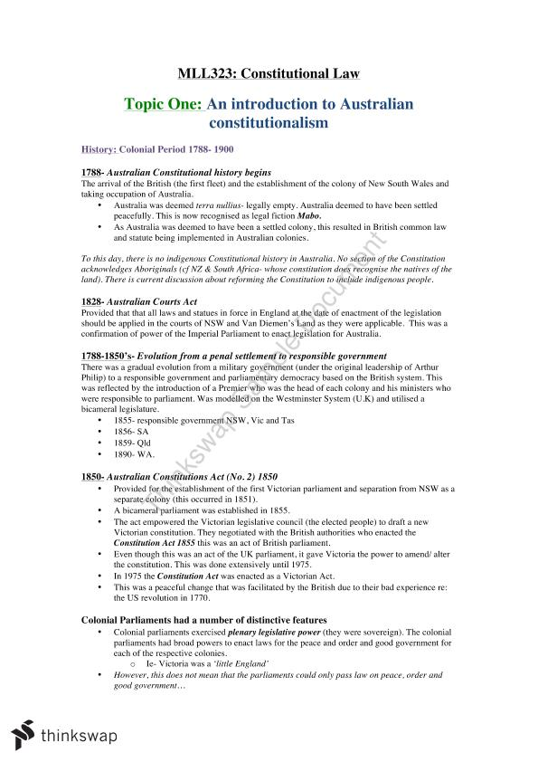 Constitutional Law Pdf Notes
