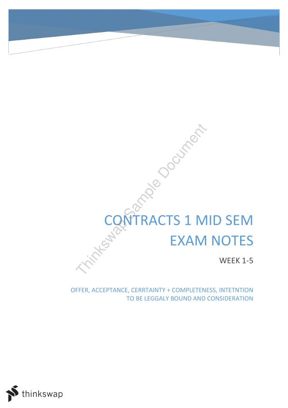 contracts exam notes Contracts exam prep  multiple choice contracts questions & answers search table of contents  create private notes and save them to your personal casebriefs.