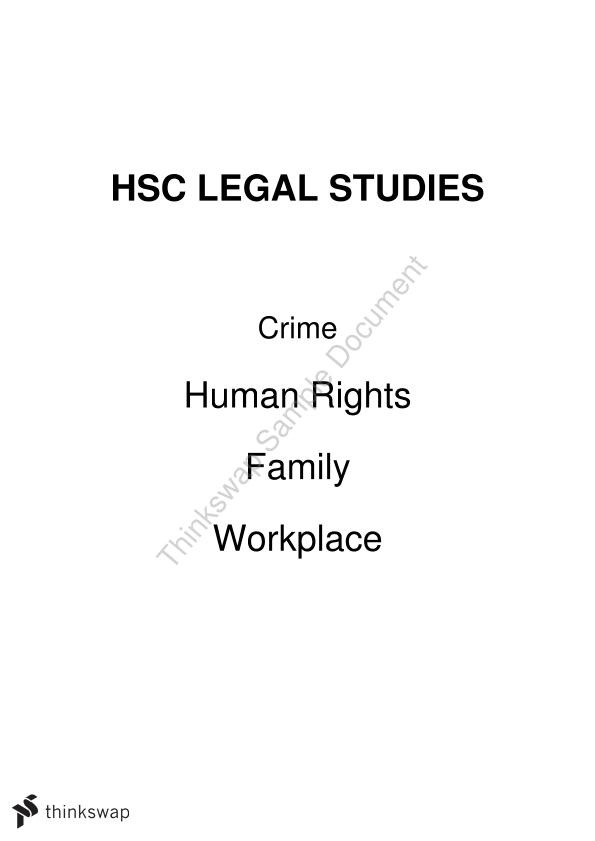 Legal Studies HSC Notes