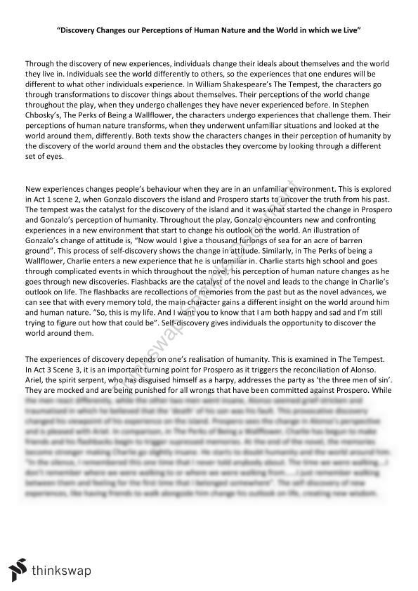 tempest discovery essay