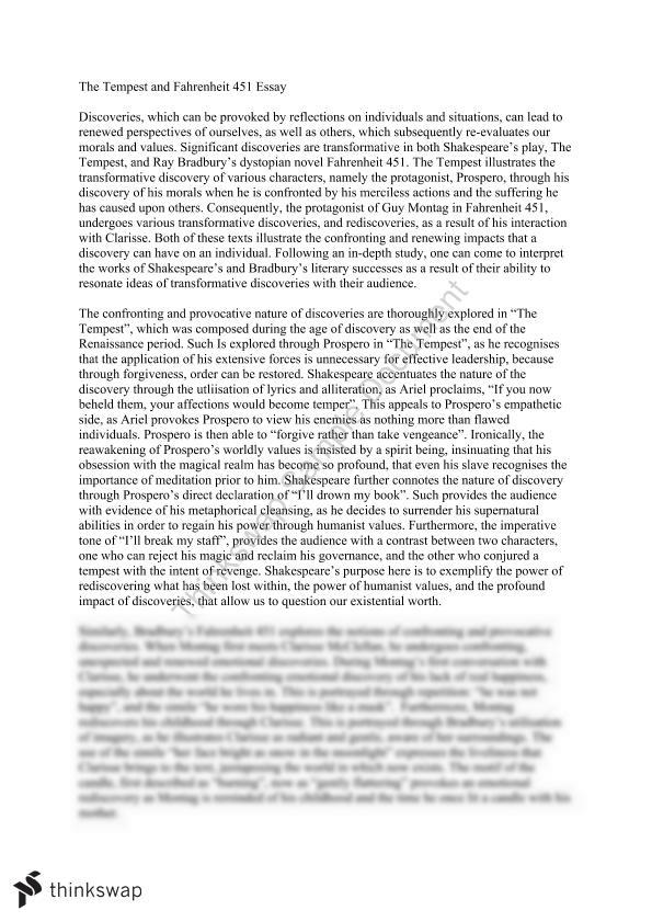 The Tempest And Fahrenheit Essay Year Hsc English Document Screenshots 451: Fahrenheit 451 Worksheet At Alzheimers-prions.com