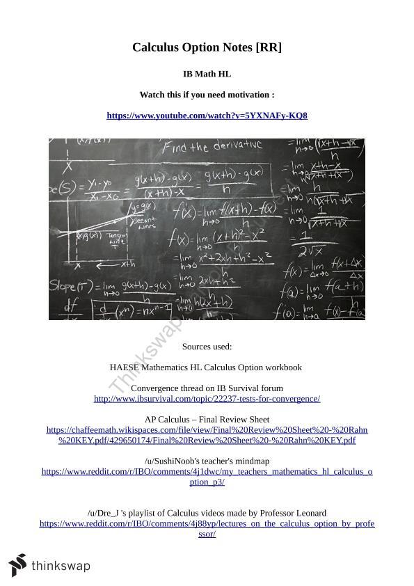 mathematics calculus notes year 12 hsc mathematics advanced