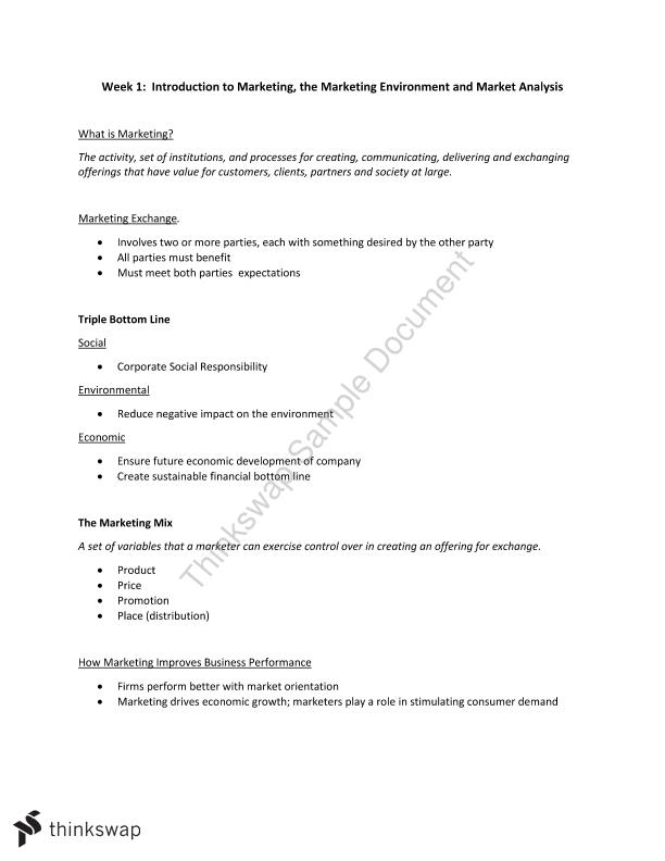 24108 marketing foundations notes Studying 024108 marketing foundations at university of technology sydney on studocu you find all the study guides, past exams and lecture notes for this course.