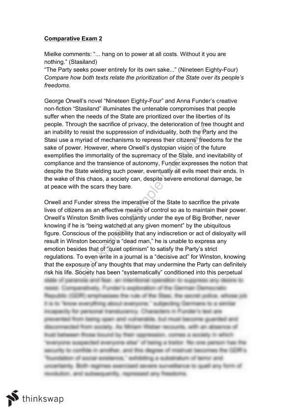 1984 essays