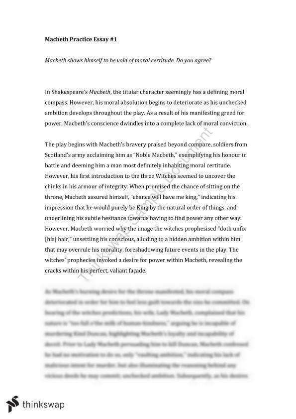 Macbeth analytical essay