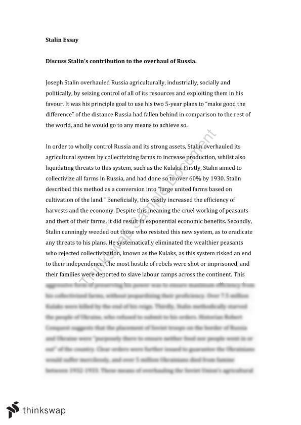 Health Essay Document Screenshots Stalin Essay Essay On Religion And Science also Custom Essay Papers Stalin Essay  Year  Vce  History Revolutions  Thinkswap English Essay Websites