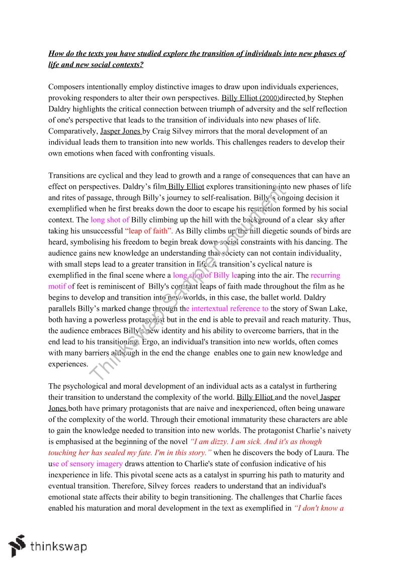 billy elliot gender stereotypes essays