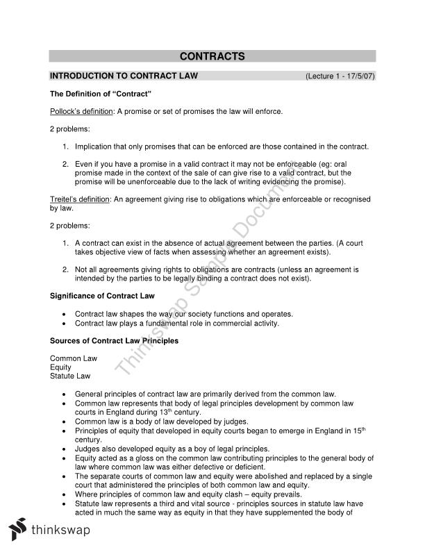 Contract Notes 200011 Contracts Thinkswap