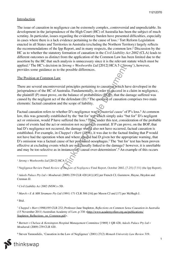 torts essay model answer Marking exercise - tort law as a student you are asked to produce answers to problem questions on a regular basis for tutorials, coursework and examinations, and you receive some feedback on your performance that might identify things that you have done well, as well as things that you have done badly.