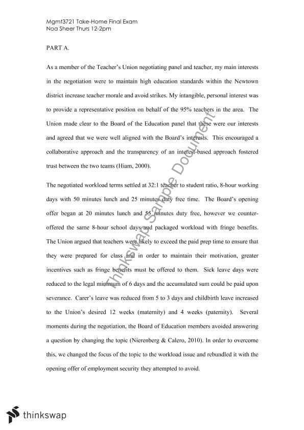 newtown high school negotiation essay mgmt negotiation  newtown high school negotiation essay