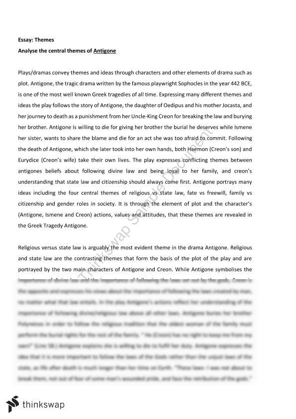 creon antigone by sophocles essay Sophocles' antigone, free study guides and book notes including comprehensive chapter analysis antigone is widely thought of as the tragic hero of the play bearing her name she would seem to fit many critics argue that creon is the tragic hero of antigone they say that his noble quality is his.