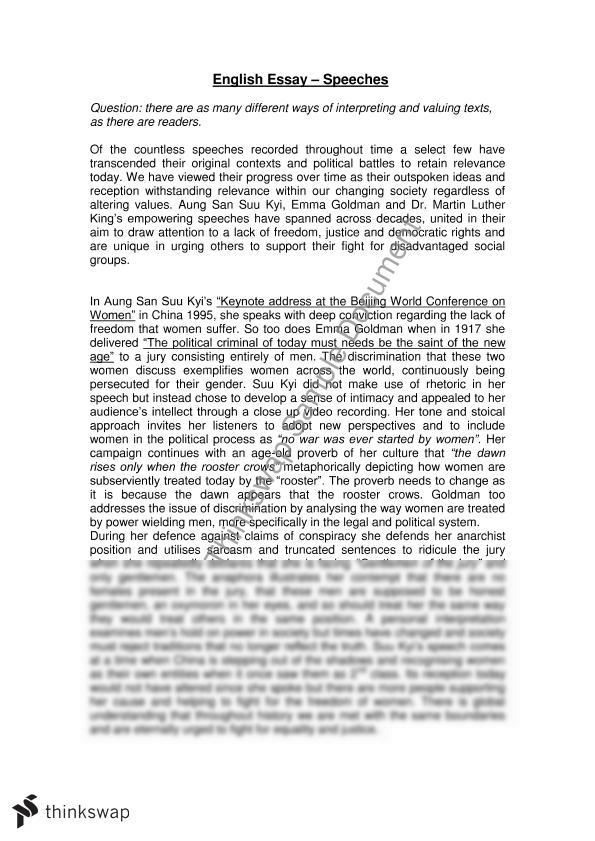 year 12 english essays Provincial examinations student samples student samples provide examples of actual student responses that have earned a mark of 2, 3, 4, 5, or 6 on a 6-point holistic scale student responses have been transcribed word for word, and therefore, accurately reflect the original handwritten submission samples home.