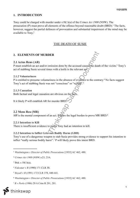 Criminal law essay structure