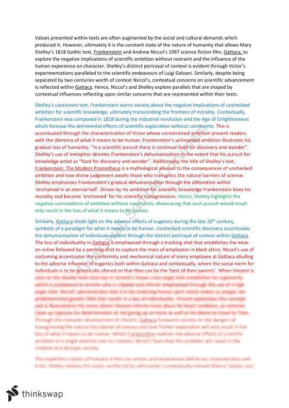 gattaca ethics essay