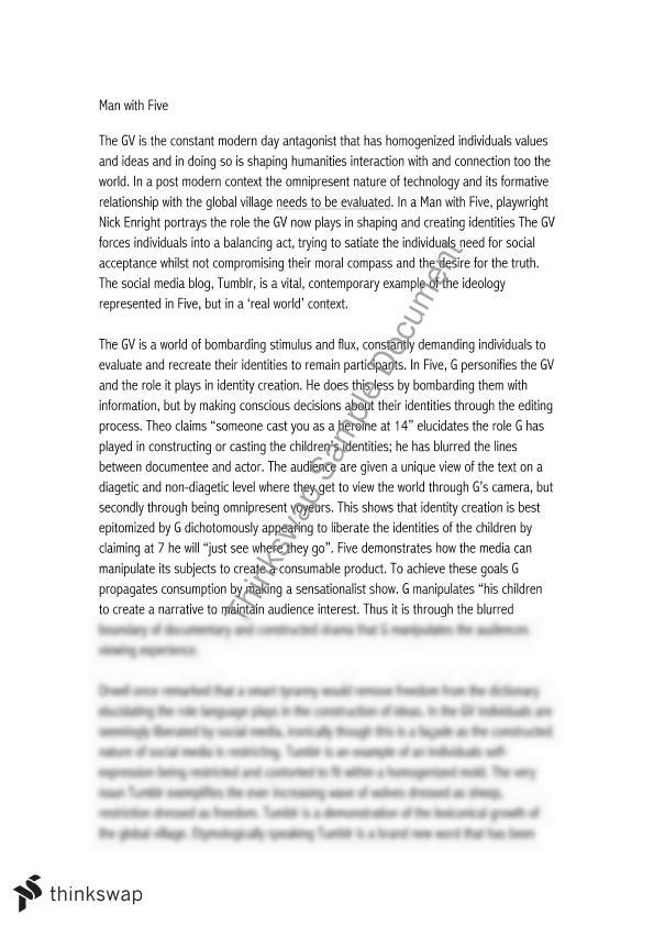 global village hsc essay example Welcome to a world of global villages the new electronic interdependence recreates the world in the image of a global village —marshall mcluhan in the late 1960s, marshall mcluhan speculated that tv and other new telecommunications technologies were transforming the world into a single, global village.