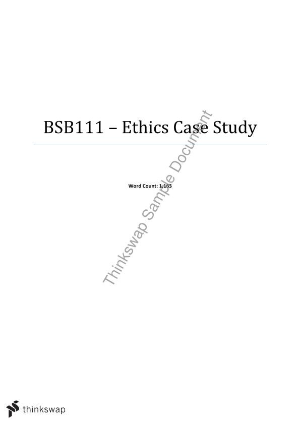Ethics assigment