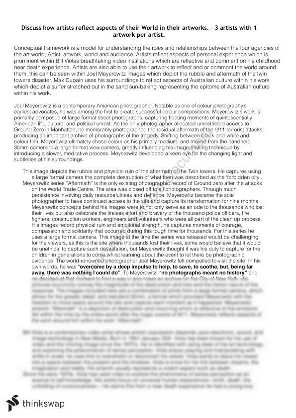 conceptual framework art essay