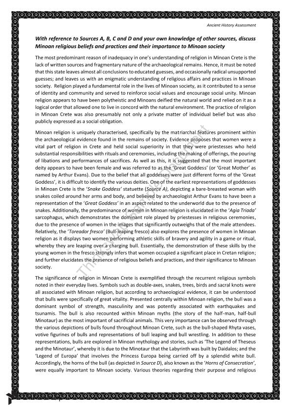 How To Start A Business Essay Minoan Religion Essay Thesis Statements For Argumentative Essays also Business Essay Examples Minoan Religion Essay  Year  Hsc  Ancient History  Thinkswap High School Essay Topics