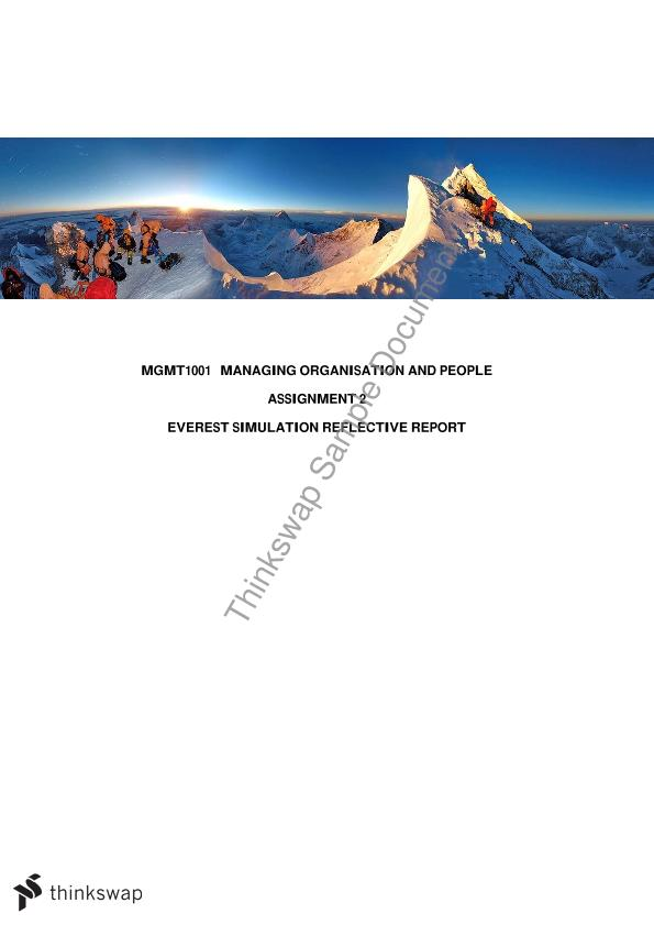 Mgmt 1001 everest final report