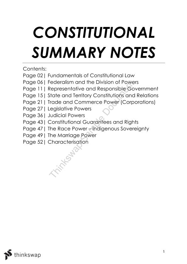 australian constitutional law notes Join our law notes whatsapp group and stay updated with legal and judicial updates 8 chapter viii: alteration of the constitution 9 topics on constitutional law.