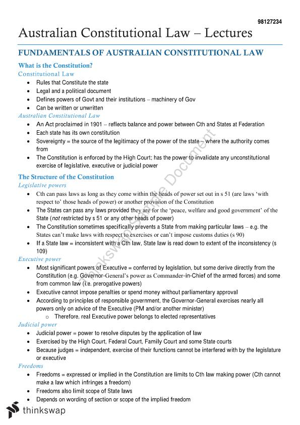Federal Constitutional Law Notes - Page 1