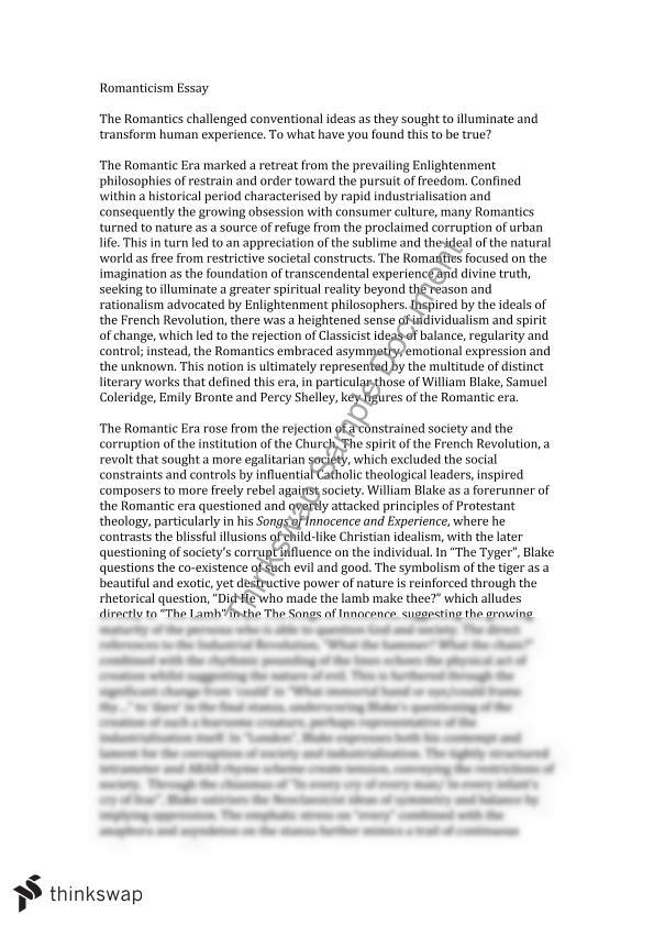 romanticism in song lyrics essay Narrative, lyric, and drama are the three general literary forms into which writing, especially poetry, has traditionally been grouped a narrative tells a story or a tale drama is when written down, they are typically divided into abcb -rhymed stanzas to emphasize the elements of song repetitive frames are also frequent.