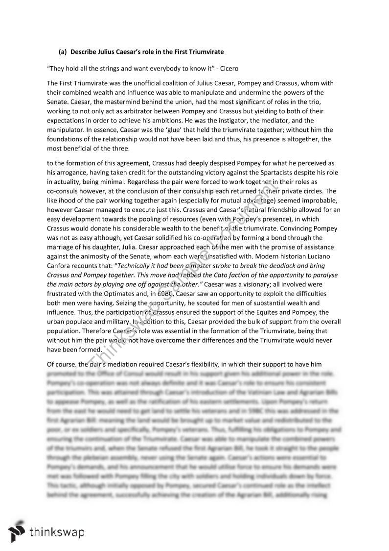 pompey and caesar essay