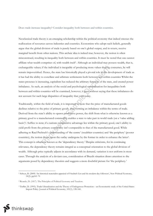 Essay about Inequality in Life - Words | Bartleby