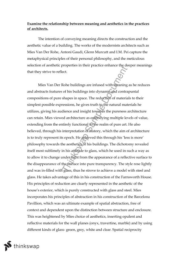 Topics For Proposal Essays Hsc Art Modern Architects Essay Research Essay Papers also Essays And Term Papers Hsc Art Modern Architects Essay  Year  Act  Art  Thinkswap Compare And Contrast Essay High School And College