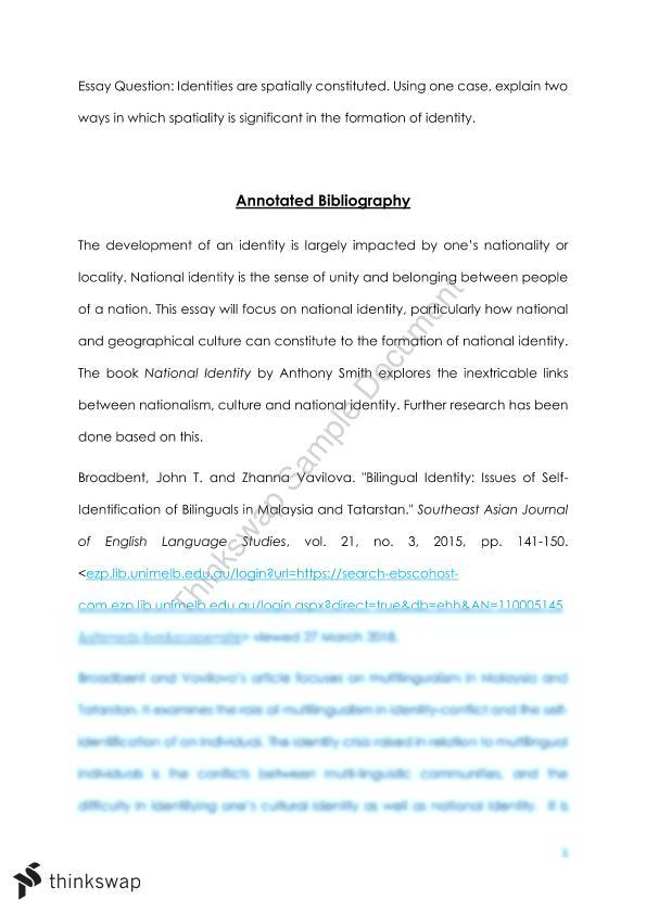 annotated bibliography unimelb