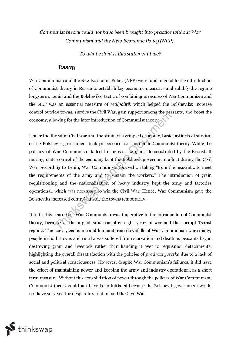 essays on communism in russia
