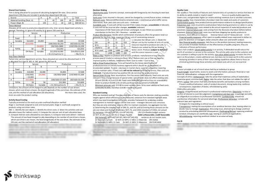 AYB225 Final Exam Cheat Sheet AYB225 Management