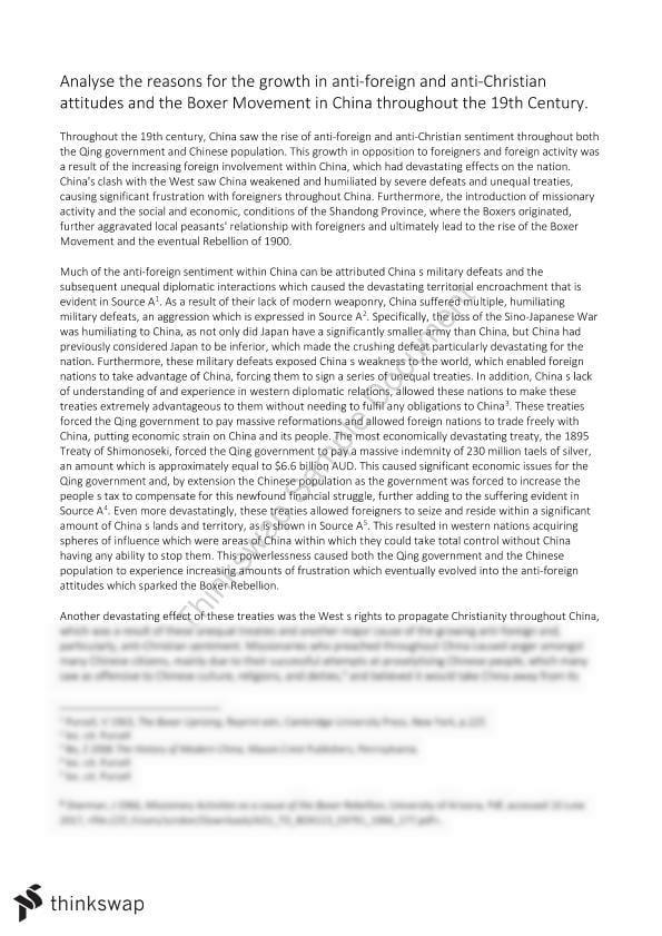 High School Narrative Essay Essay On The Boxer Rebellion Mental Health Essays also English Literature Essay Questions Essay On The Boxer Rebellion  Year  Hsc  Modern History  Thinkswap Synthesis Essay Ideas