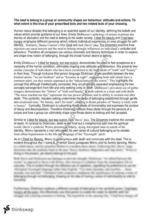 Thesis for reader response essay