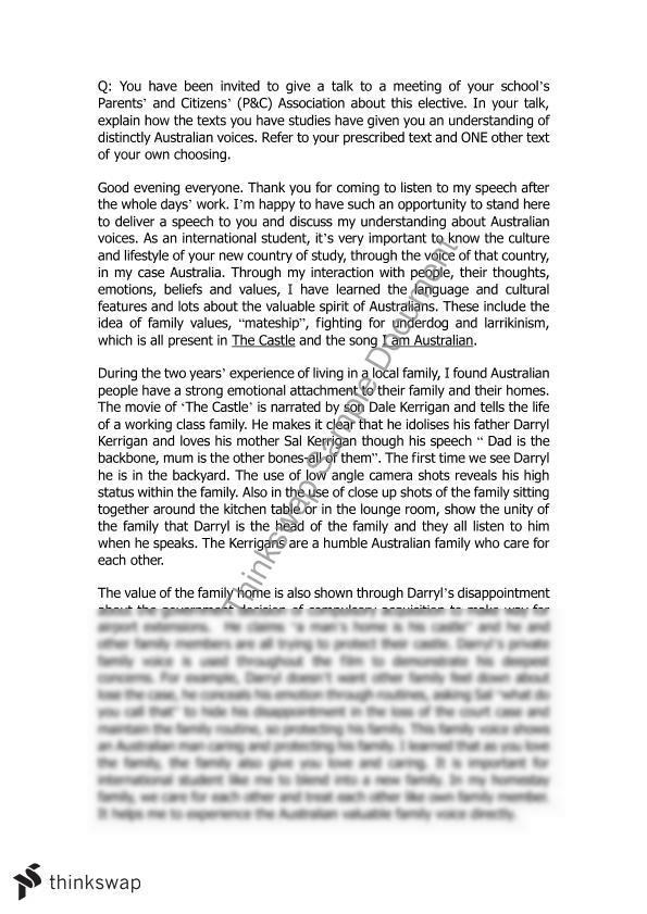 Charmant Hsc Esl Australian Voice Sample Essay Yearhsc English As A Hsc Esl  Australian Voice Sample Essay