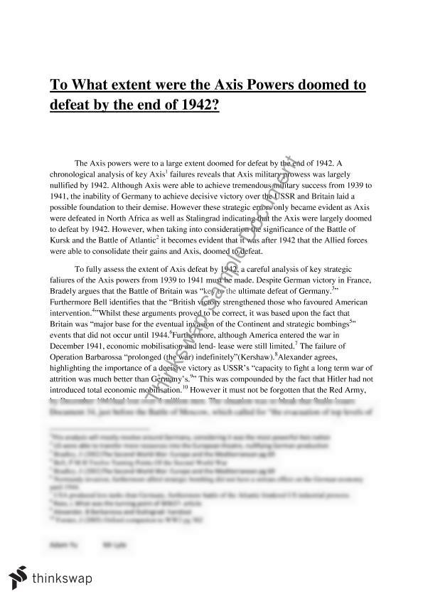 another essay on axis powers defeat Essay on why the us should have dropped the after the defeat of the axis powers in more about essay on why the us should have dropped the atomic bombs on.