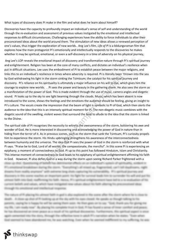 Life of pi essay essay