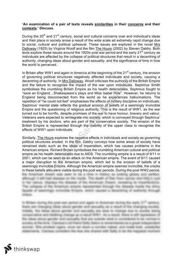 Proposal Essay Topics Comparative Essay For Module A Mrs Dalloway  The Hours Business Strategy Essay also Health Is Wealth Essay Comparative Essay For Module A Mrs Dalloway  The Hours  Year   Sample Essay Papers
