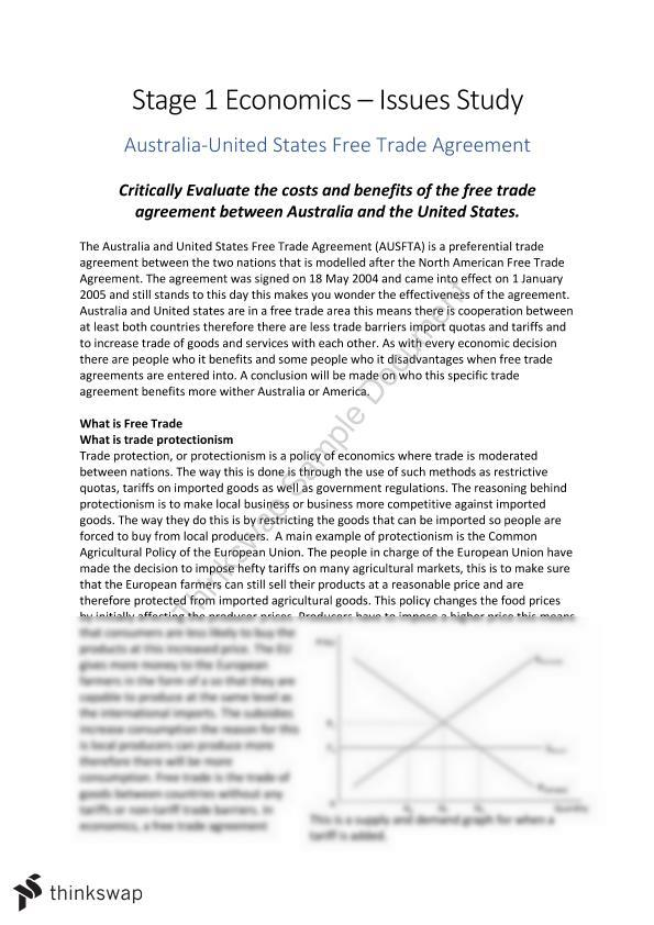 Critically Evaluate The Costs And Benefits Of The Free Trade