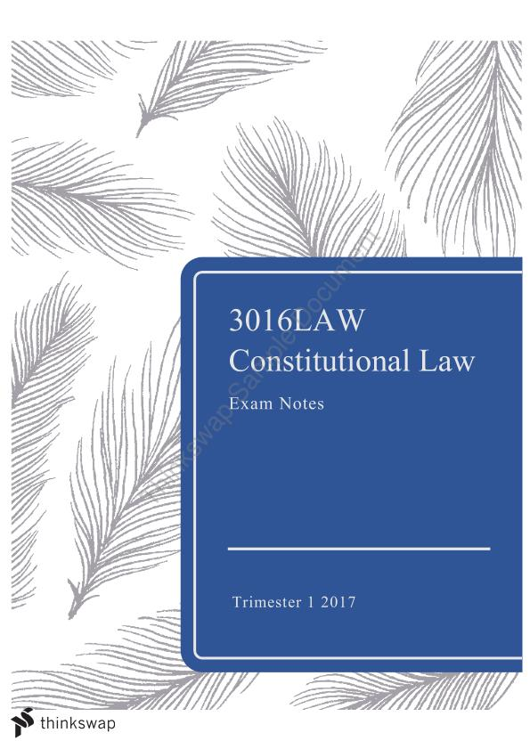 australian constitutional law exam notes The most concise and updated federal constitutional law study notes for australian law students includes model exams and model exam answers (click here to purchase just the notes.
