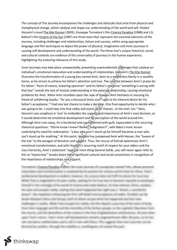 essays on kite runner Christopher seifert english 1b kite runner essay 2/21/071 the universal sin  the dictionary defines sin as a transgression of.