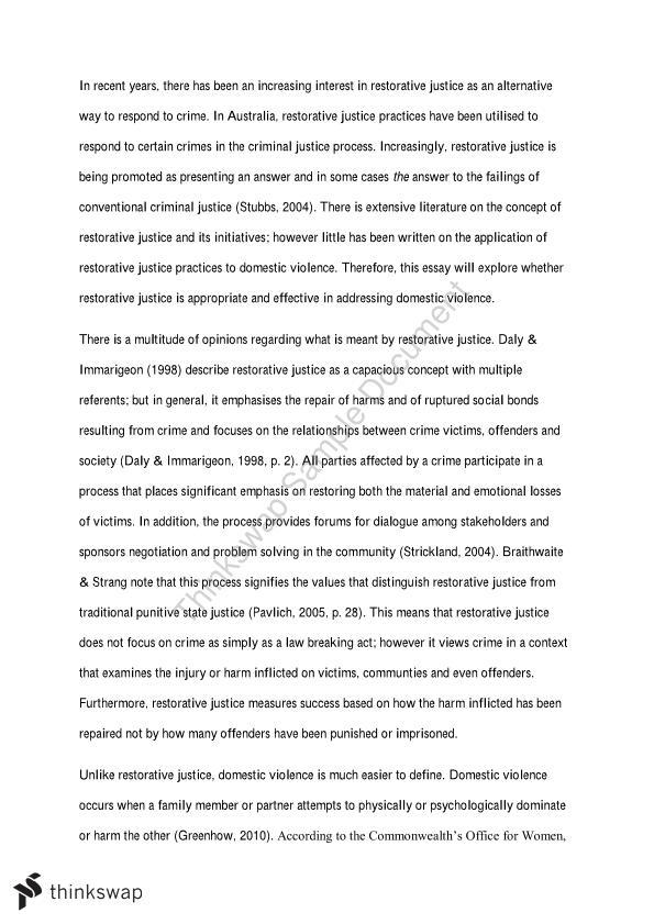 essay restorative justice
